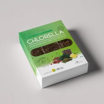 Barras crocantes de sementes com chlorella, 120g