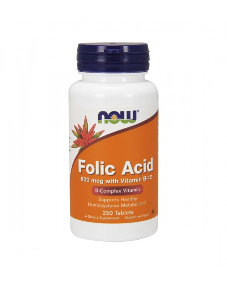 Ácido Fólico - Folic Acid- 250 comp. 800mg