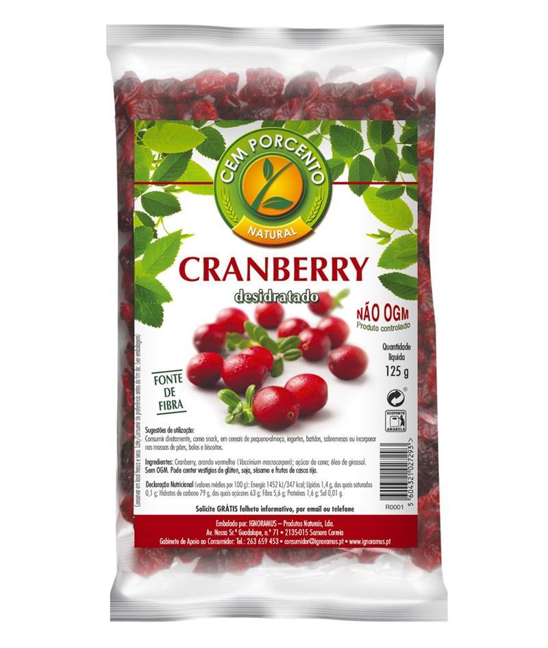Bagas de Cranberry 125gr