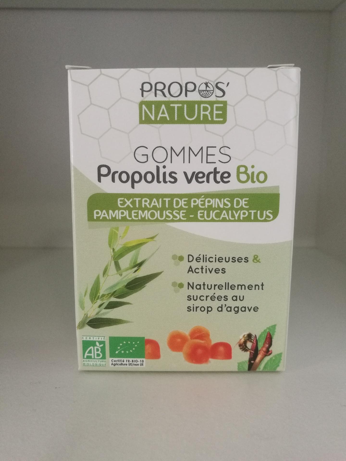 Gomas de Própolis Verde, EPT e Eucalipto, Sem açúcar, Bio