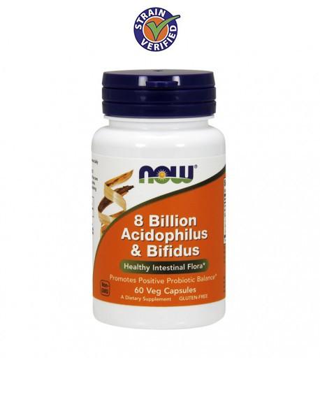 Acidophilus/Bifidus - 8 Bilioes 60 caps.