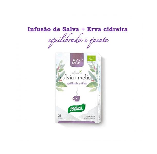 Salva + Erva cidreira Bio 20saq
