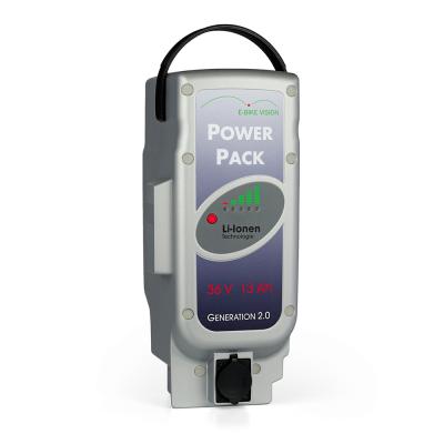 Bateria E-Bike Vision compatível com Panasonic 36V, 468Wh