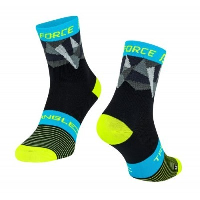 Meias Force Triangle Pr/Fluo/Az S/M