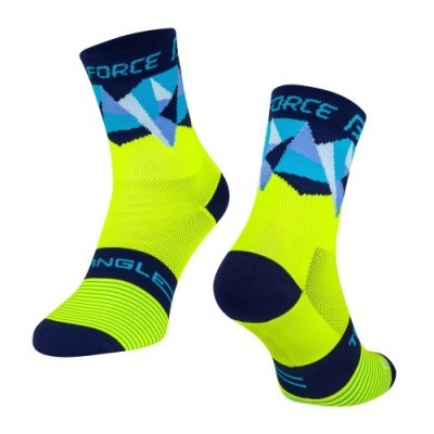 Meias Force Triangle Fluo/Az S/M