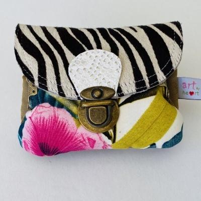 Carteira Dupla S Zebra e flowers