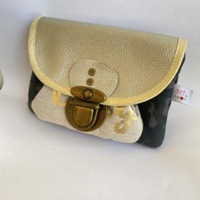 Carteira dupla L Camuflado e Dourado