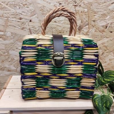 cesta junco 17cm multi cor verde