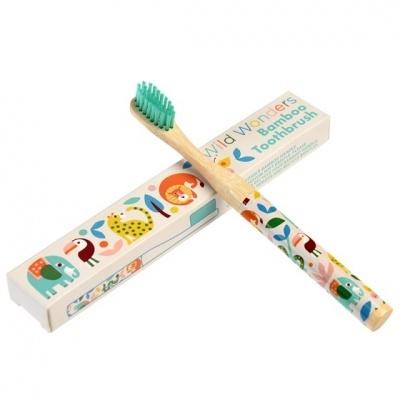 Wild Wonders escova de dentes bambu