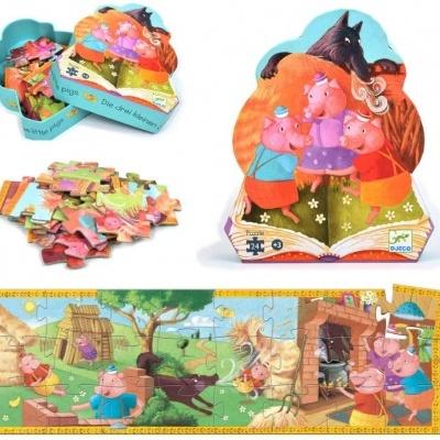 Djeco puzzle 3 porquinhos
