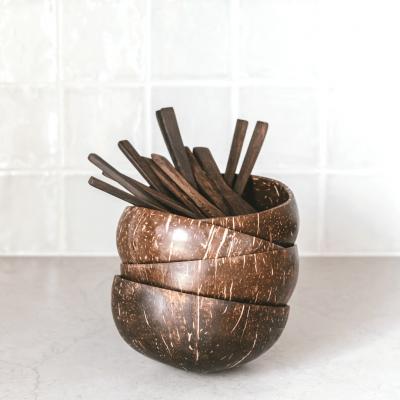 Coconut Bowl Set - 2 Coconut Bowls + 2 Colheres Buddha