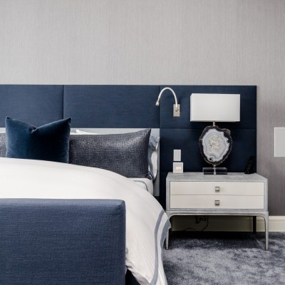 Modern Blue Bedroom