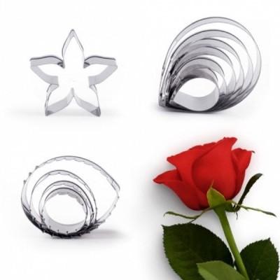 Conjunto de 11 Cortantes, Flor e Folhas de Rosa