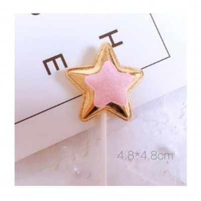 Topper de Bolo, Estrela Dourada com Estrela Rosa