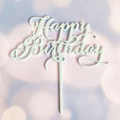Topper Acrílico Azul - Happy Birthday