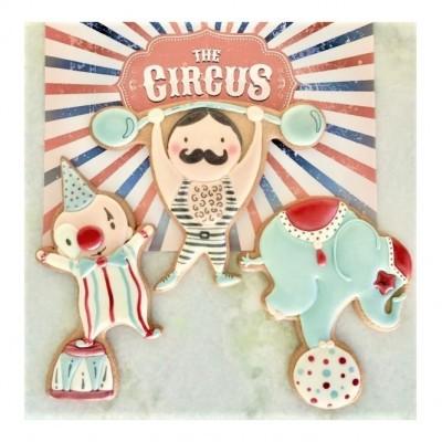 Conjunto de 3 Cortantes de Bolachas, Circus
