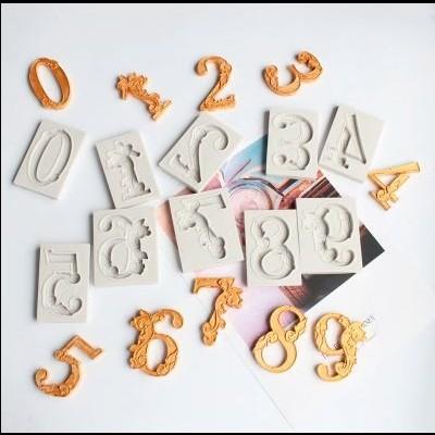Conjunto de10 Moldes de Silicone, Números