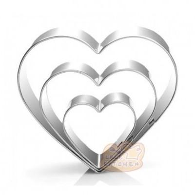 Conjunto de 3 Cortantes Coração