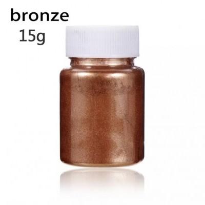 Corante Alimentar em Pó Metalizado - Bronze, 15g
