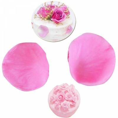 Conjunto de 2 Moldes Veneadores de Silicone, Pétala e Folha de Rosa Pequena