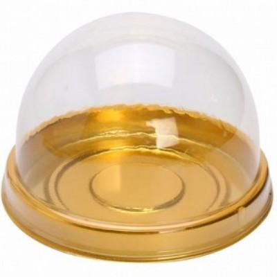 Caixinha de Acetato com Base Dourada