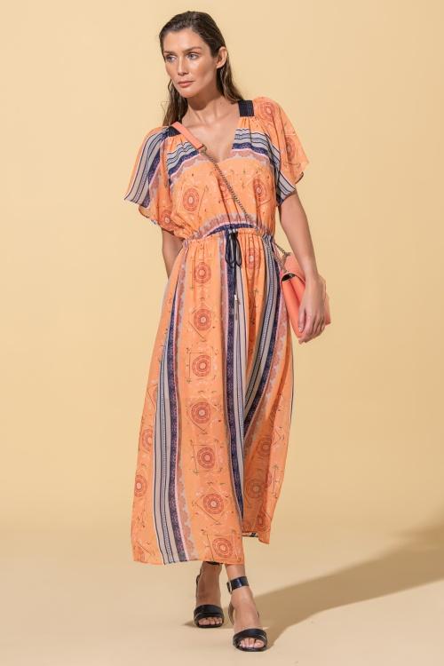 Vestido midi estampado Ana Sousa