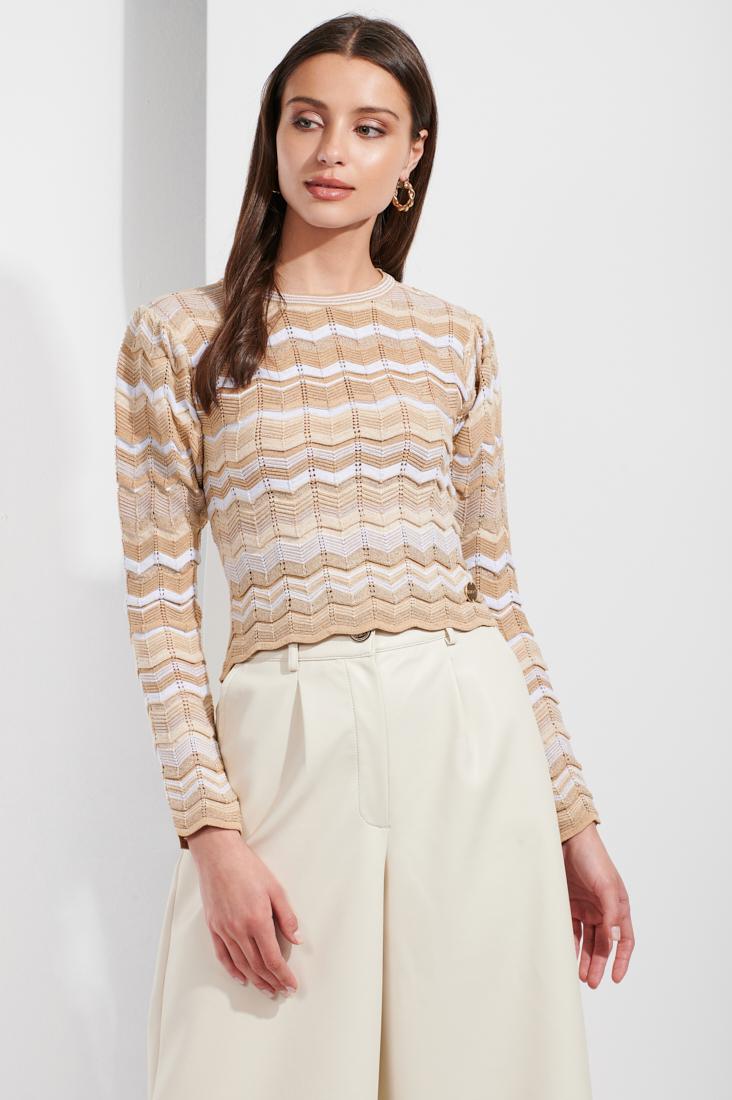 Camisola de tricot manga comprida Sahoco