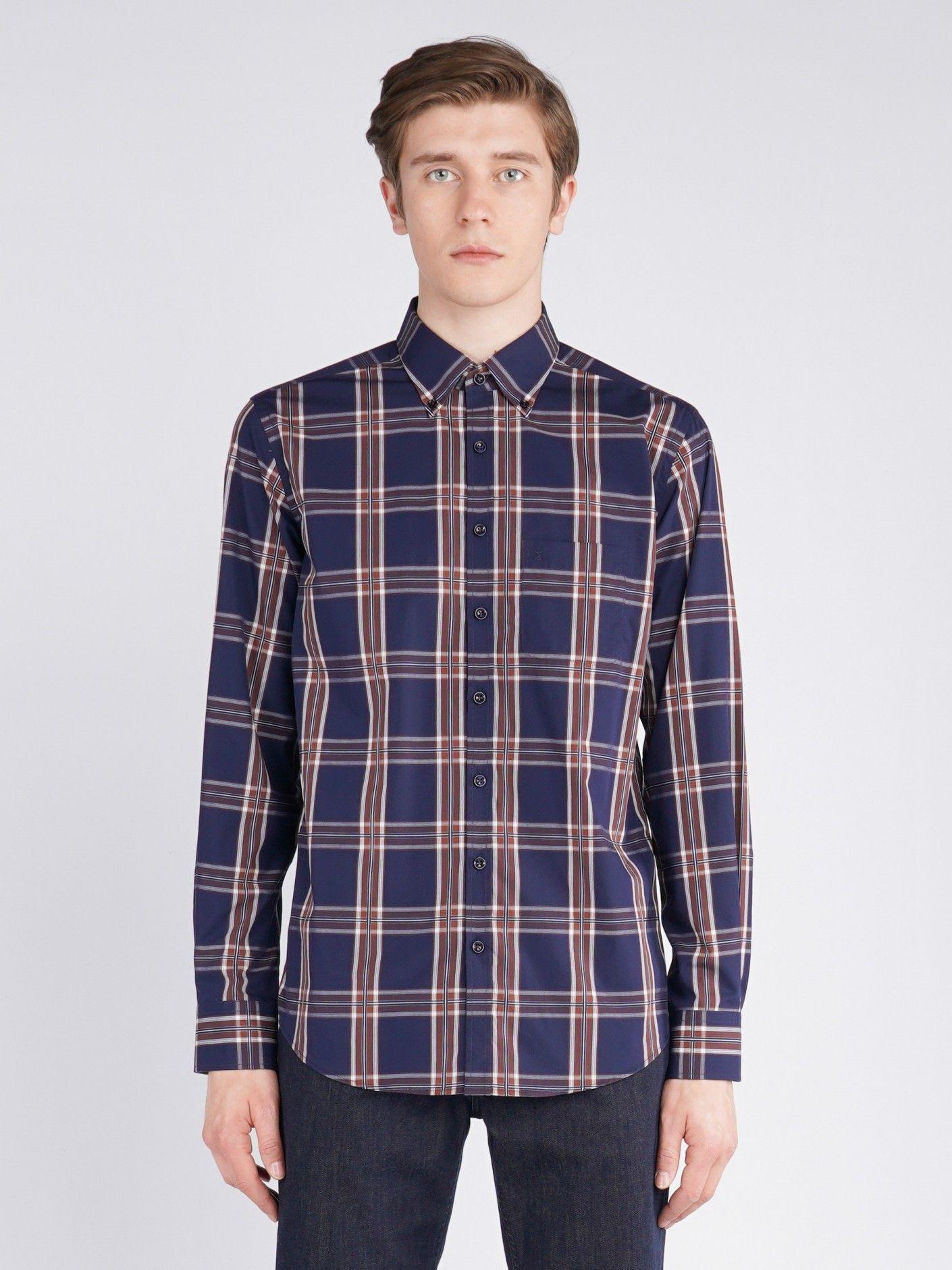 Camisa em tecido xadrez Decenio