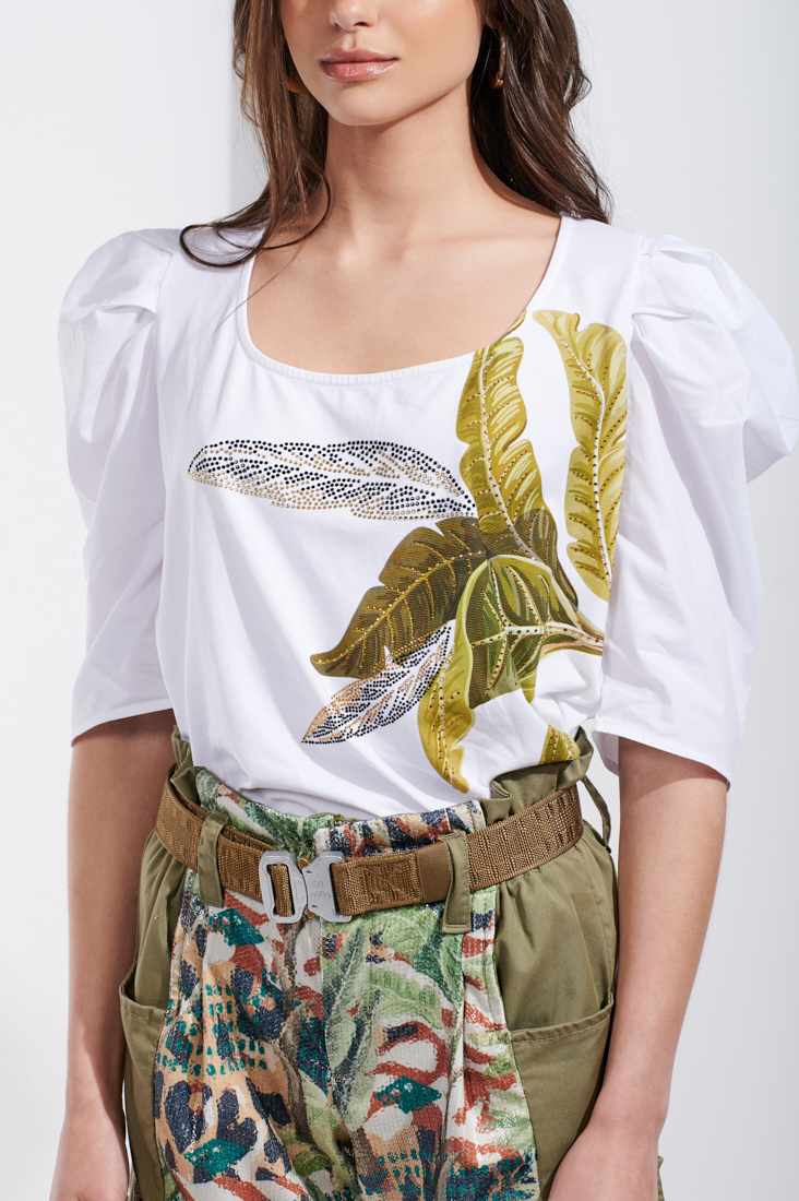 T-shirt decote amplo Sahoco