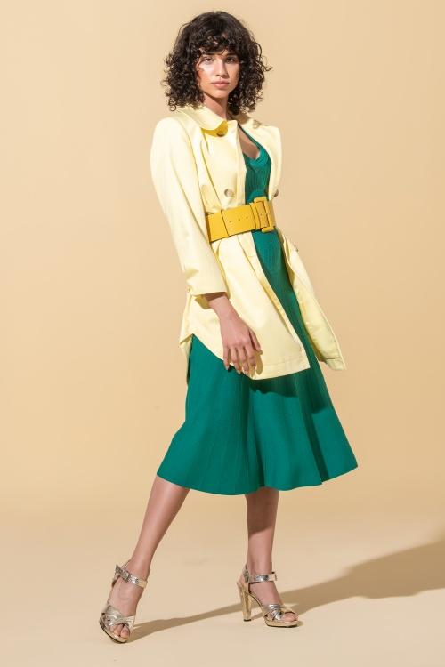 Vestido malha decote em V  Ana Sousa