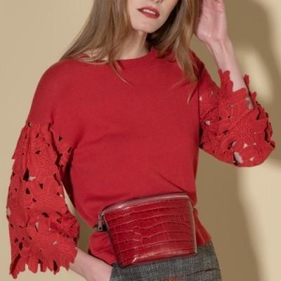Camisola manga com bordado perfurado Ana Sousa