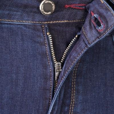 Jeans denim com cinto Lion of Porches
