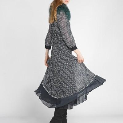 Vestido plissado Decenio
