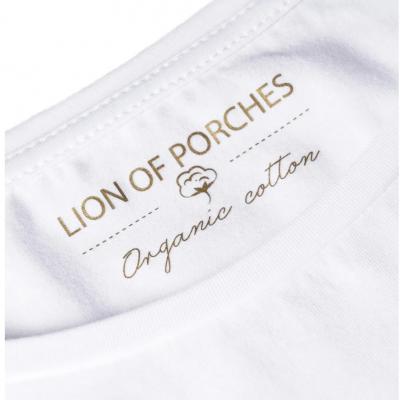 T-shirt Lion Of Porches em algodão orgânico