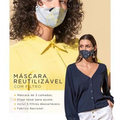 Máscara Reutilizável (com filtro) - Nível 3 Ana Sousa