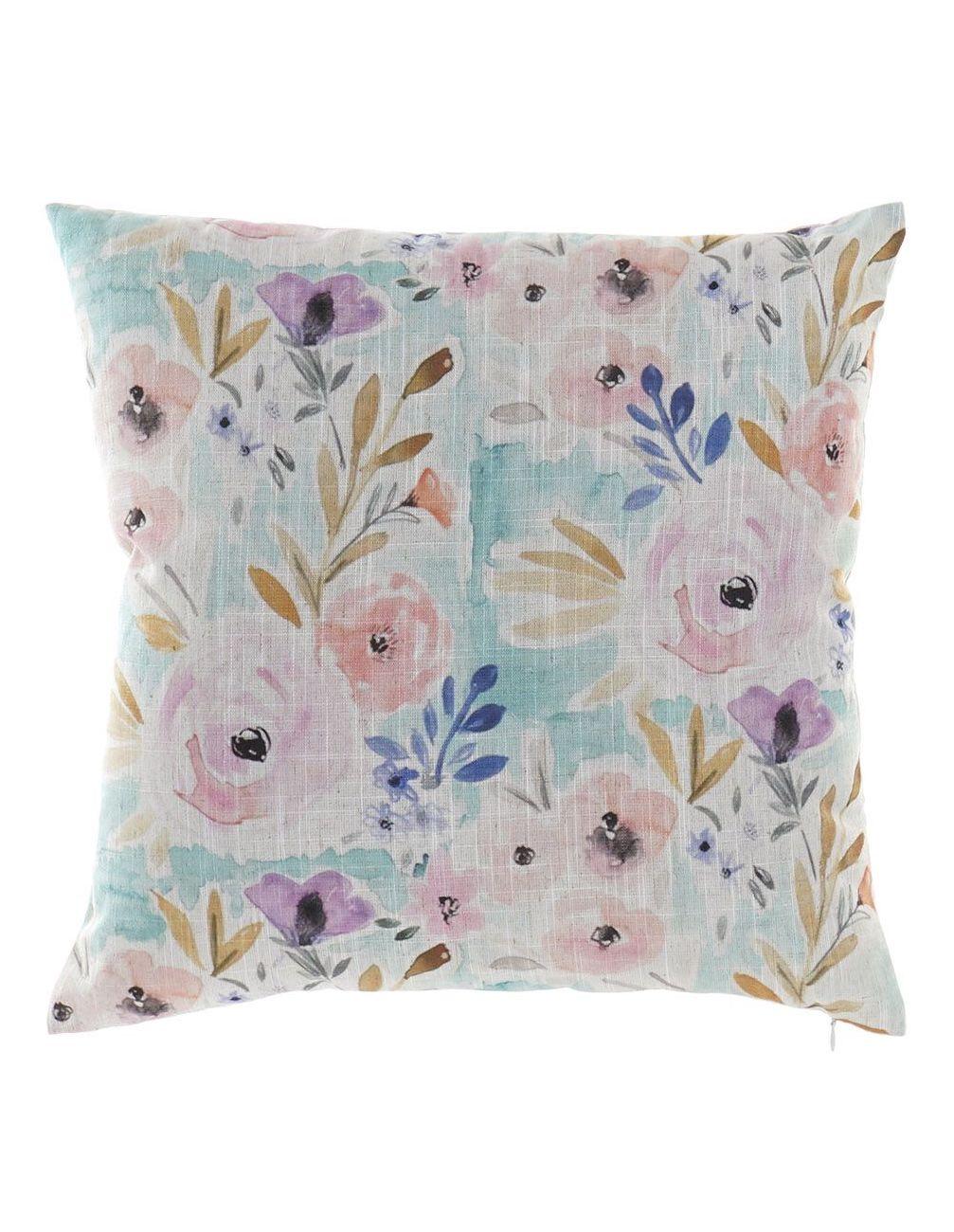 Almofada floral (Azul GR)