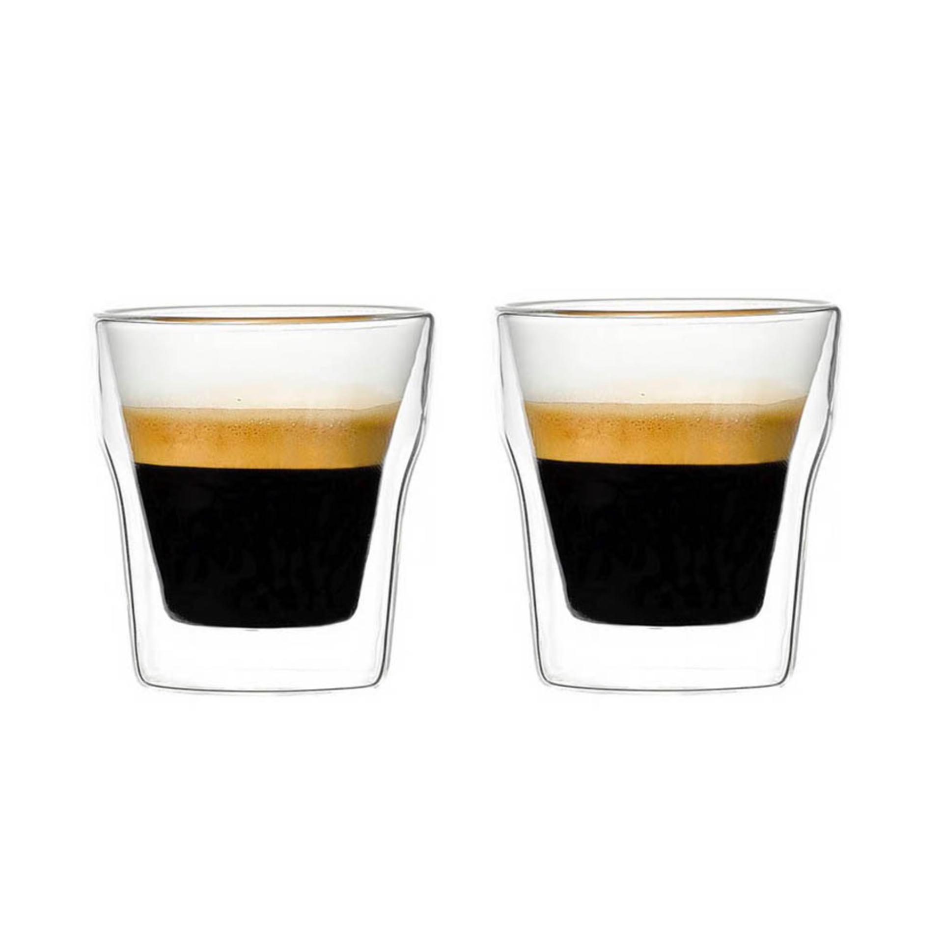 2 Copos de café vidro duplo