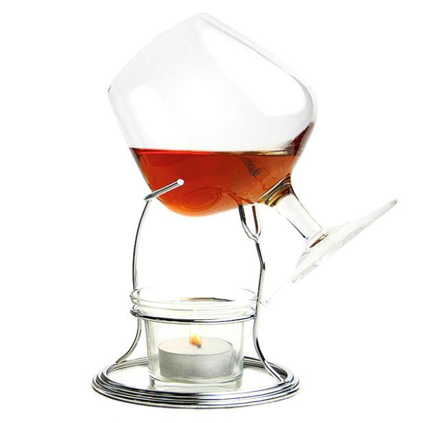 Aquecedor para brandy e cognac (inclui copo)