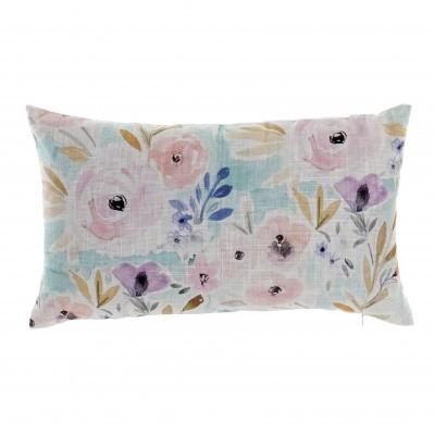 Almofada floral (Azul PQ)