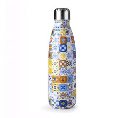 Garrafa termo 500 mL azulejo multicolor