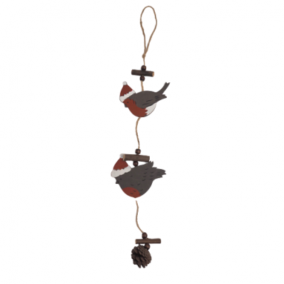 Decoração de pendurar - pássaros madeira