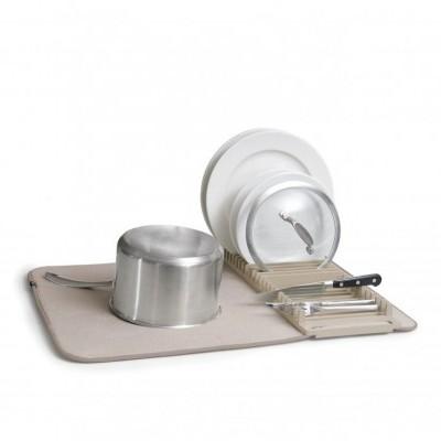 Escorredor com tapete em microfibra (BEGE)