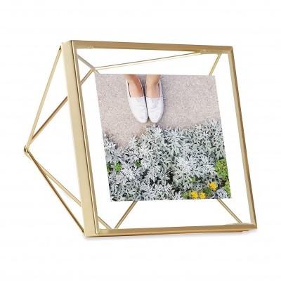Moldura  10x10cm prisma (Dourada)