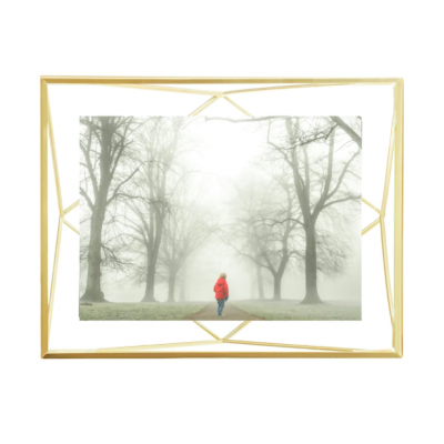 Moldura  13x18cm prisma Dourada