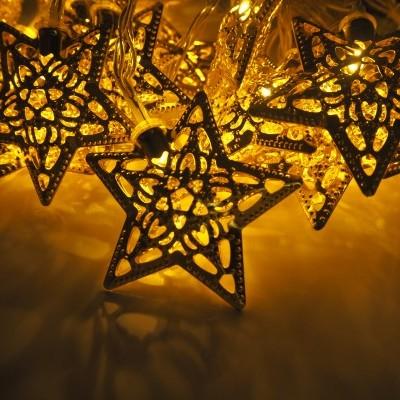 20 Luzes LED estrelas (a pilhas)
