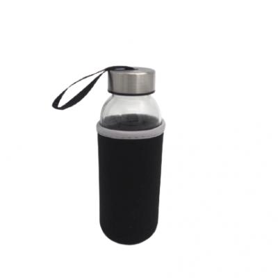 Garrafa de vidro reutilizável 300mL (3 CORES DISPONÍVEIS)