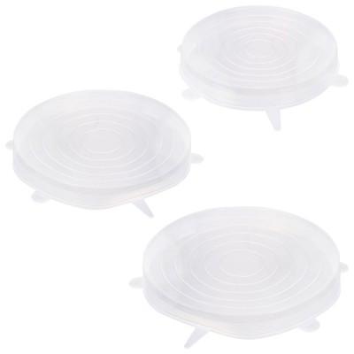3 Tampas de silicone extensíveis