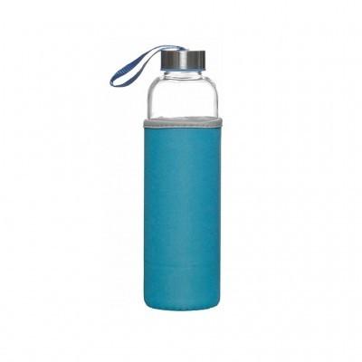 Garrafa de vidro reutilizável 600mL (3 CORES DISPONÍVEIS)