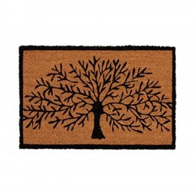 Tapete entrada árvore preto
