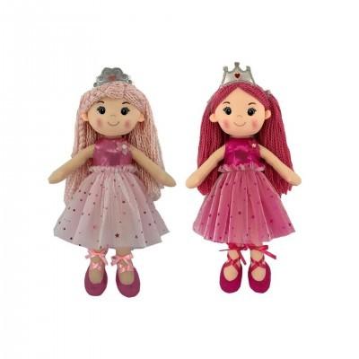 Boneca princesa cor-de-rosa (2 CORES DISPONÍVEIS)